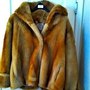 PAMELA MCCOY 3X NWT hooded faux fur coat